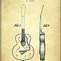 Gretsch Guitar Patent Drawing From 1941 - Vintage by Aged Pixel