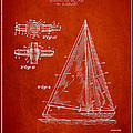 Sailboat Patent Drawing From 1938 by Aged Pixel