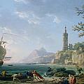 A Coastal Mediterranean Landscape by Claude Joseph Vernet