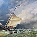 A Dutch Beurtman Aground by Edward William Cooke