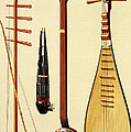 A Huqin And Bow, A Sheng, A Sanxian by Alfred James Hipkins