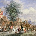 A Kermesse On St. Georges Day by Angel-Alexio Michaut
