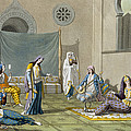 A Persian Harem, From Le Costume Ancien by G. Bramati