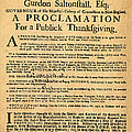 A Proclamation Of Thanksgiving by Bill Cannon