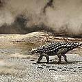 A Saichania Chulsanensis Dinosaur by Roman Garcia Mora