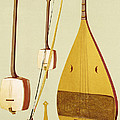 A Shamisen, A Kokyu And A Biwa by Alfred James Hipkins