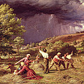 A Thunder Shower, 1859 by James Thomas Linnell