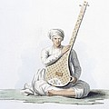 A Tumboora, Musical Instrument Played by Franz Balthazar Solvyns