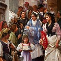 A Venetian Christening Party, 1896 by Henry Woods
