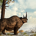 A Woolly Rhinoceros Trudges by Daniel Eskridge