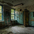 Abandoned Places - Asylum - Old Windows - Waiting Room by Gary Heller