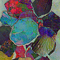Abstract Art Torn Collage  by Ann Powell