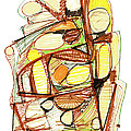Abstract Pen Drawing Sixty-three by Lynne Taetzsch