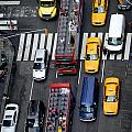 Aerial View Of New York City Traffic by Amy Cicconi