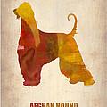 Afghan Hound Poster by Naxart Studio