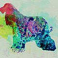 Afghan Hound Watercolor by Naxart Studio
