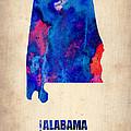 Alabama Watercolor Map by Naxart Studio