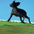 Amazing Black Dog, 2000 by Marjorie Weiss