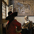 Amorous Couple by Jan Vermeer