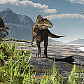An Acrocanthosaurus Roams An Early by Arthur Dorety