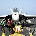 An Aircraft Director Signals by Stocktrek Images