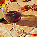 An Autumn Glass Of Red by Georgia Fowler
