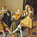 An Elegant Company Playing Music In An by Dirck Hals