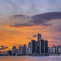 An Evening In Detroit Michigan  by Tim Wilson