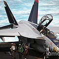 An Fa-18f Super Hornet Sits by Stocktrek Images