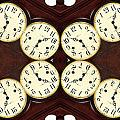 Antique Clock Abstract . Horizontal by Renee Trenholm