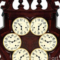 Antique Clock Abstract . Standard by Renee Trenholm