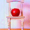 Apple Still Life With Doll Chair by Edward Fielding
