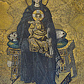 Apse Mosaic Hagia Sophia Virgin And Child by Ayhan Altun