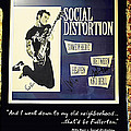 Autographed Poster Of Rock Legend Mike Ness  by Renee Anderson