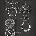 Baseball Construction Patent 2 - Gray by Nikki Marie Smith