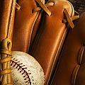 Baseball Glove And Baseball by Chris Knorr