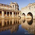 Bath Pulteney Bridge And Colonnade Bath by Colin and Linda McKie