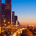 Beijing Central Business District China by Fototrav Print