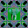 Big Elephant Abstract Window 20130201p128 by Wingsdomain Art and Photography