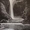 Black And White Waterfall by Svetlana Rudakovskaya