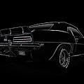 Black Ss Line Art by Douglas Pittman