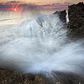 Blowing Rocks Sunrise Explosion by Mike  Dawson