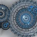 Blue Clockwork Machine by Martin Capek