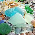 Blue Green Sea Glass Coastal Art by Baslee Troutman
