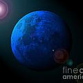 Blue Moon Digital Art by Al Powell Photography USA