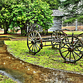 Blue Ridge Parkway Vintage Wagon In The Rain I by Dan Carmichael