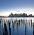Boston Harbor Skyline With Ica by Juergen Roth