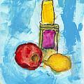Bottle Apple And Lemon by Skip Nall