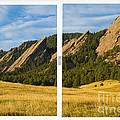 Boulder Colorado Flatirons White Window Frame Scenic View by James BO  Insogna
