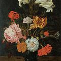 Bouquet In A Roemer by Jan Baptist Van Fornenburgh
